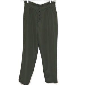 NWT Who What Wear Green Ruffle Waist Pants 1X